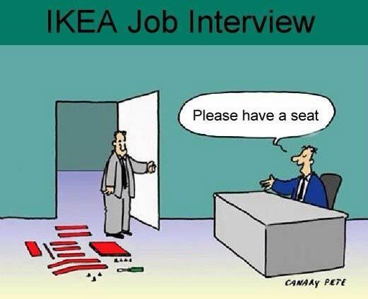 Ikea interview seat...
