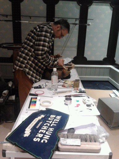 in the flow - Nick Garrett traditional signwriter, London