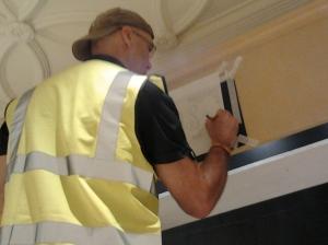 Jules Brown Signwriter at Ted Baker - Nick Garrett signs