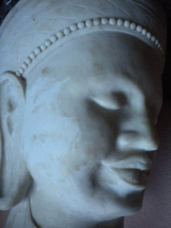 Buddha head sculpture Nick Garrett