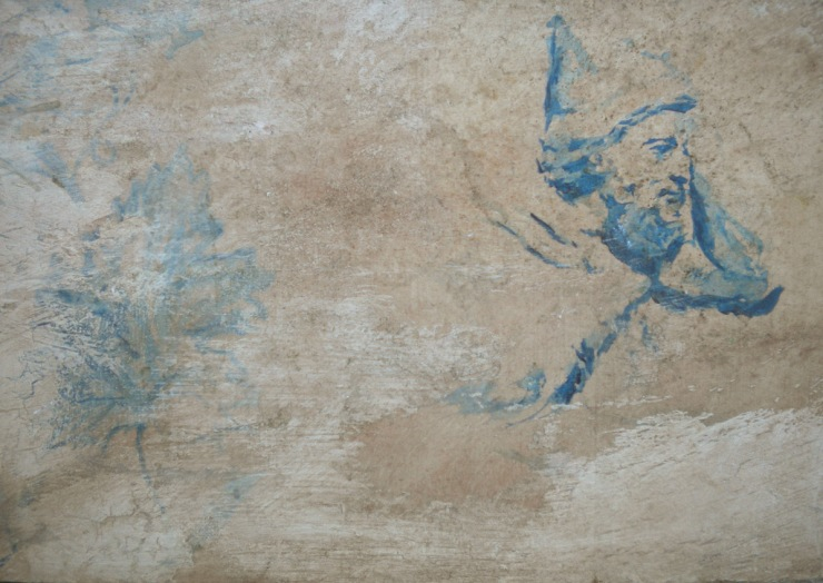 Sample Etruscan King fresco painted by Nick Garrett