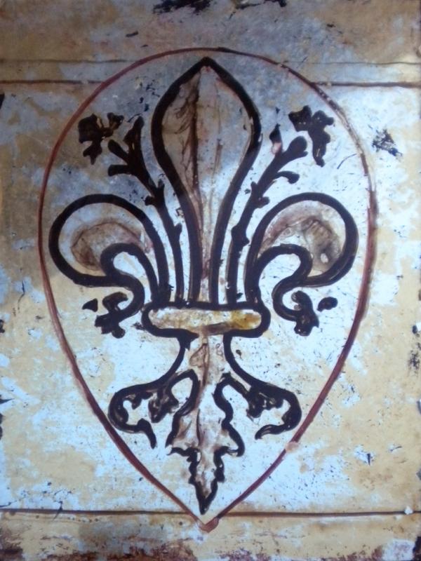 Antiqued Florentine Fluer di Lys - Nick Garrett verre eglomise