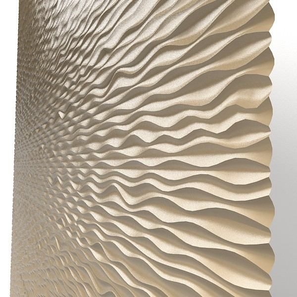 Panel decorative d wave mdf modern laser perforated wall