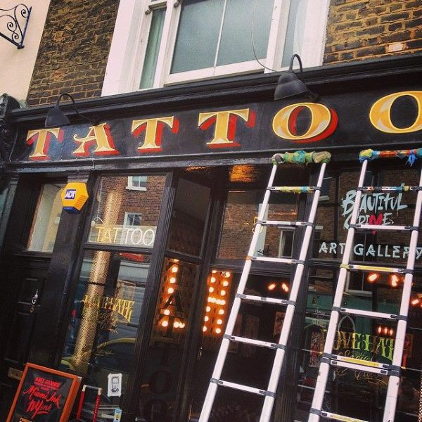 Tattoo 4 Love Hate Social club London new sign by NGS