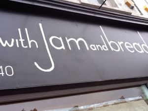 with jam and bread sign - Lee high rd London Nick Garrett Traditional Signs