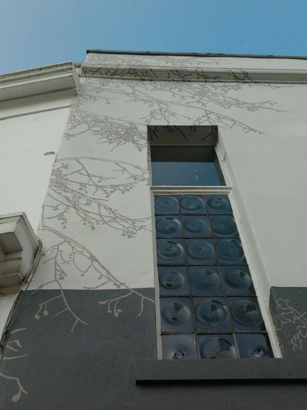 Close up nick garrett's mural work