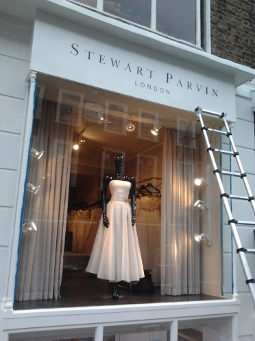 A sign for Stewart Parvin the Queen's dressmaker... Nick Garrett Signs London