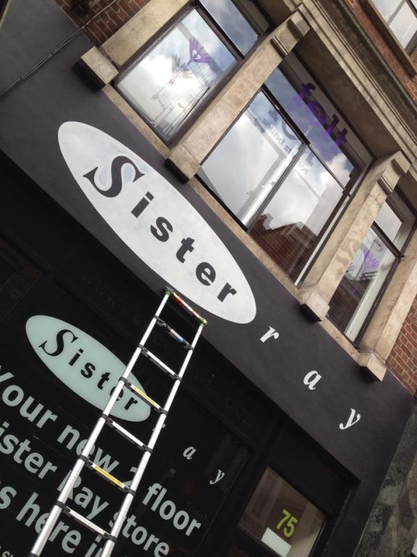 Sister Ray Soho done - NGS signwriters